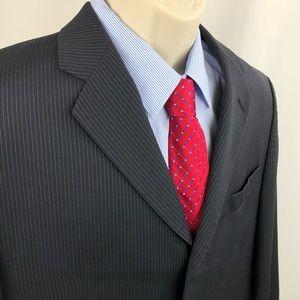 Calvin Klein Sport Coat Blazer Navy pinstripes 40S